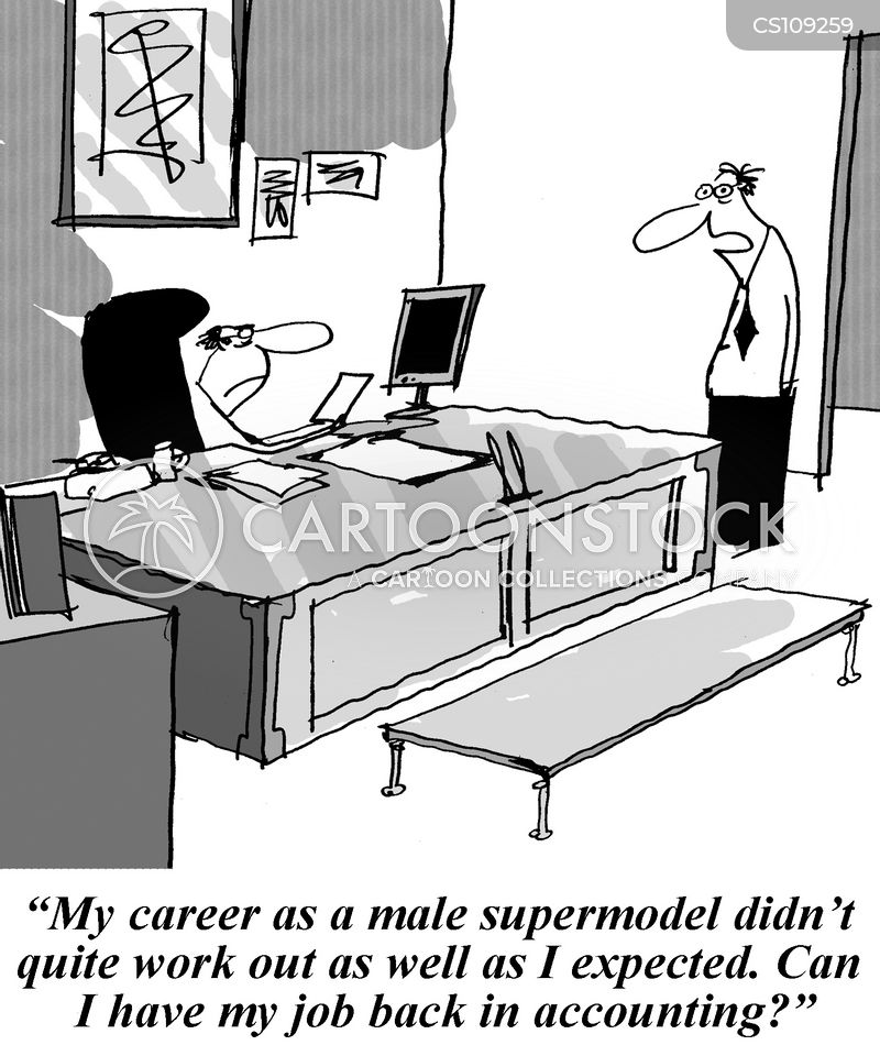 male models cartoon