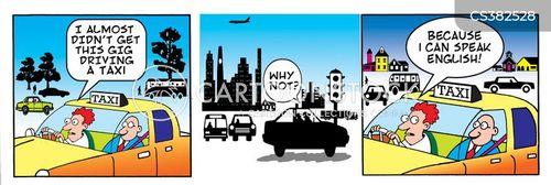 speaking english cartoon