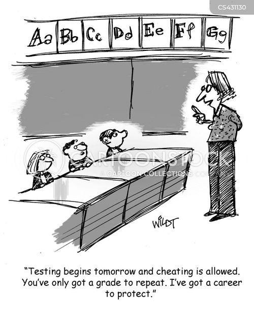 high grades cartoon
