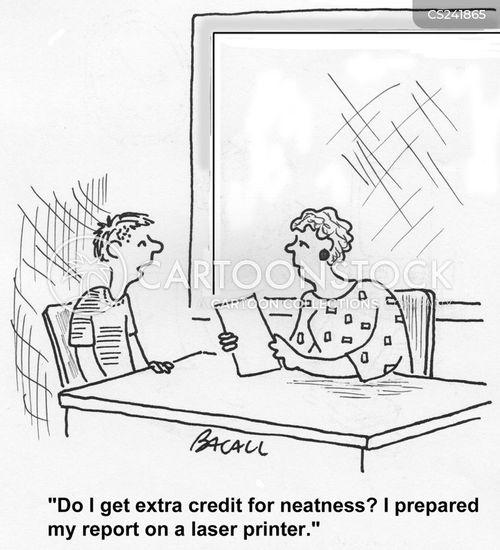 extra credit cartoon