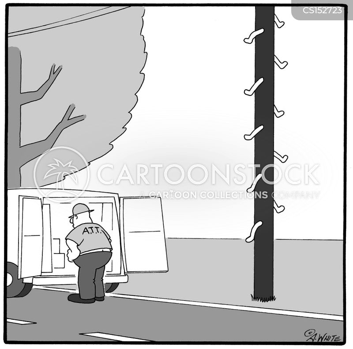 telephone poles cartoon