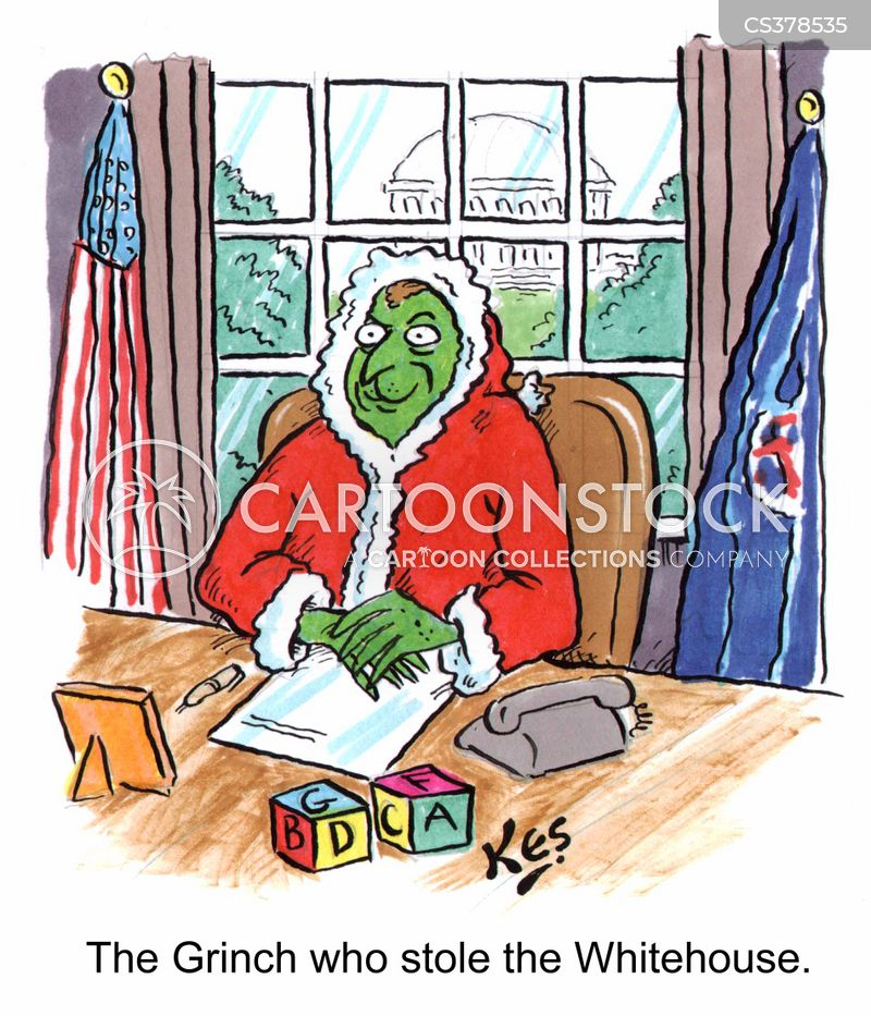 Grinch Cartoons and Comics  funny pictures from CartoonStock