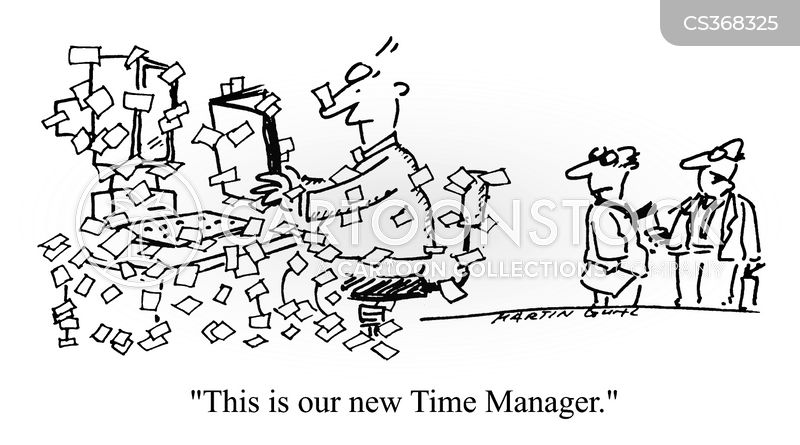 time manager cartoon