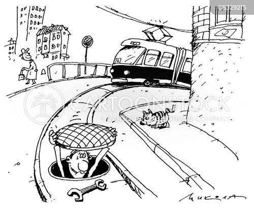 tram cartoon