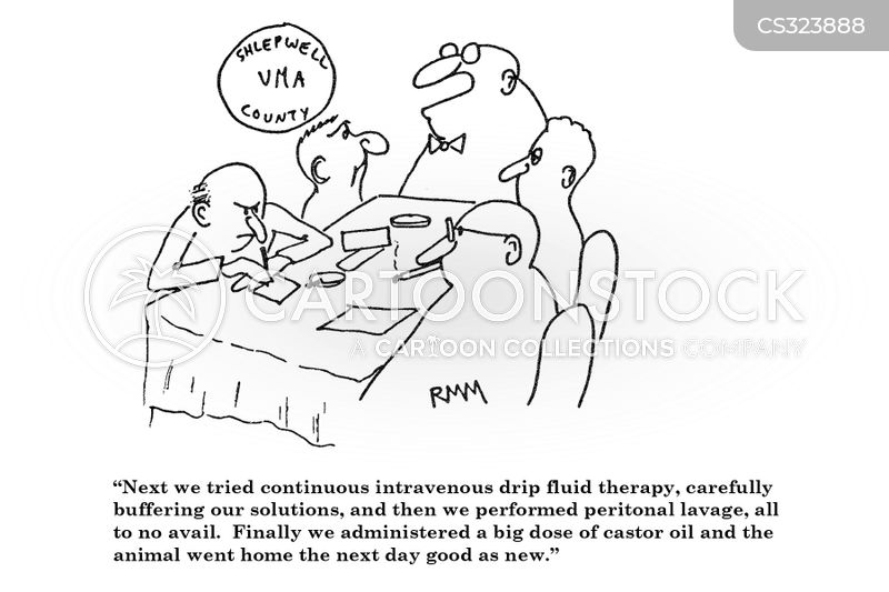 castor oil cartoon