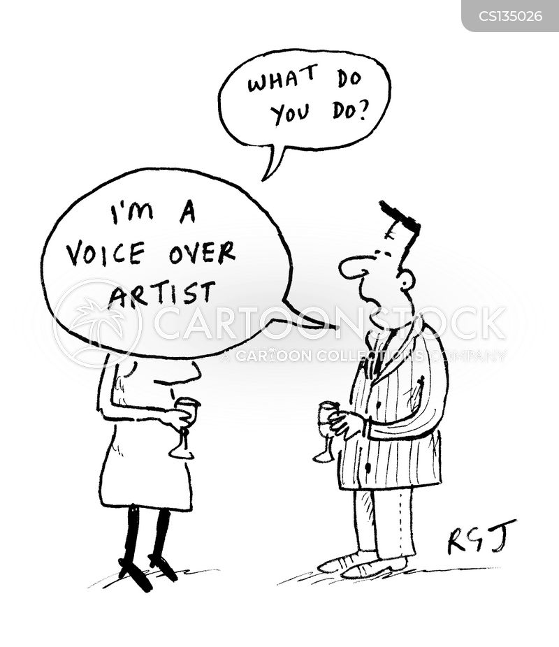 booming voice cartoon