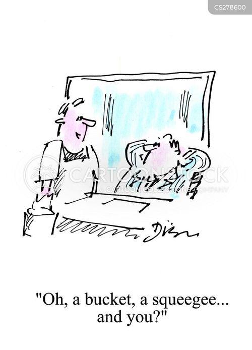 squeegees cartoon