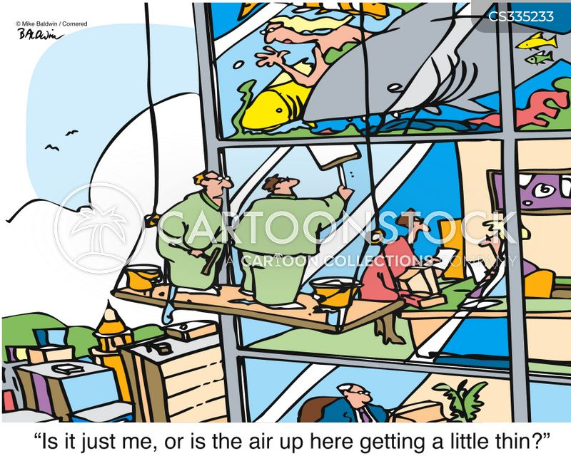 window wash cartoon