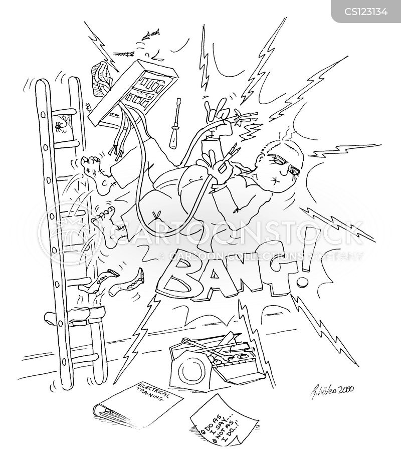 professions wiring rewiring health_and_safety electricians fuses gwa0016_low fuse boxes cartoons and comics funny pictures from cartoonstock Cartoon Spine Nerves at virtualis.co