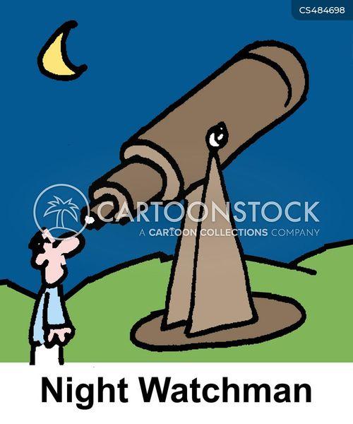 night watchmen cartoon
