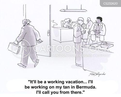 taking time off cartoon
