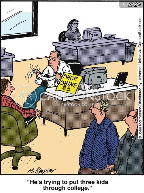 second job cartoon