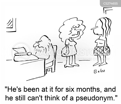 pseudonyms cartoon