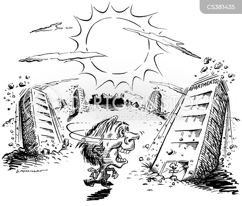 apartment buildings cartoon