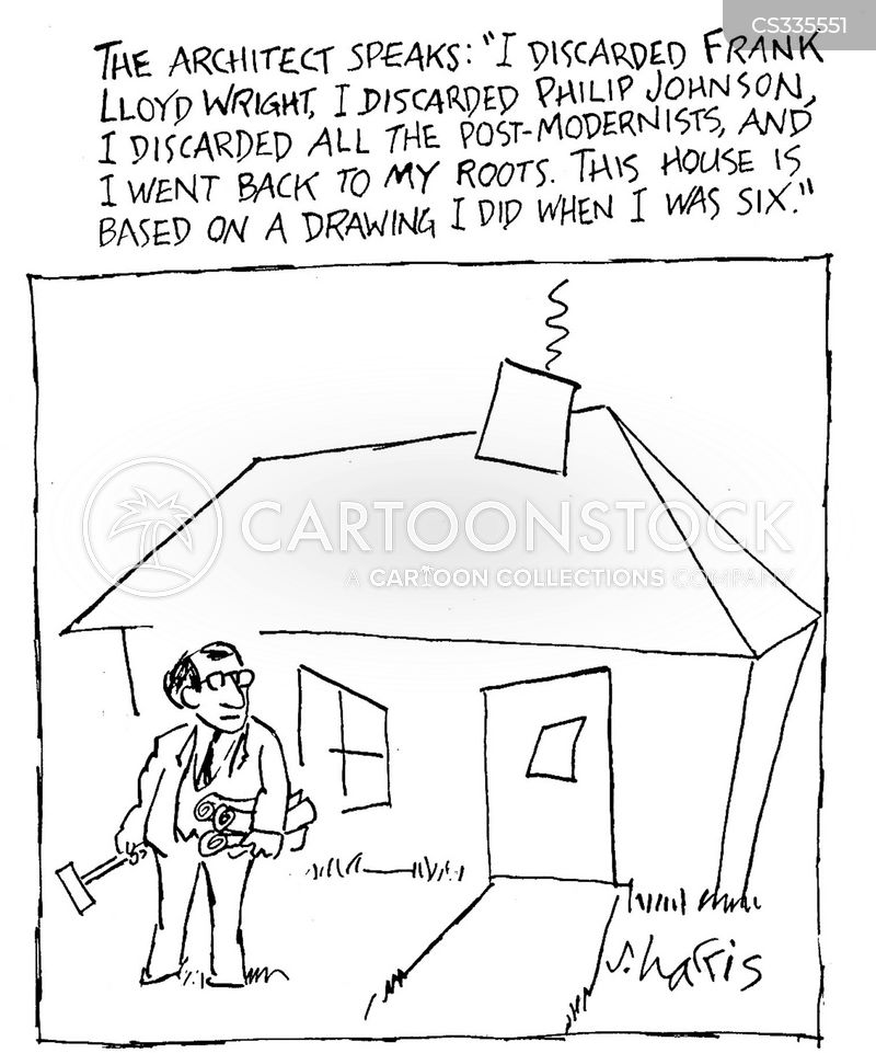 Designing Houses Cartoons and Comics - funny pictures from CartoonStock