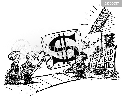 old age home cartoon