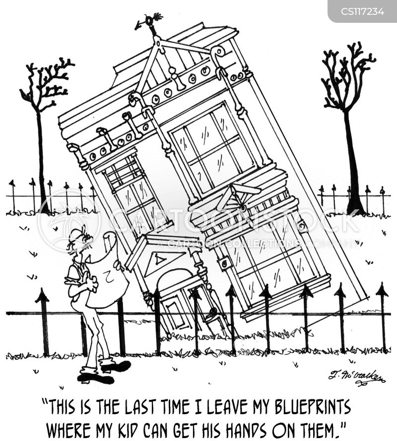 Home construction cartoons and comics funny pictures Blueprint builder free
