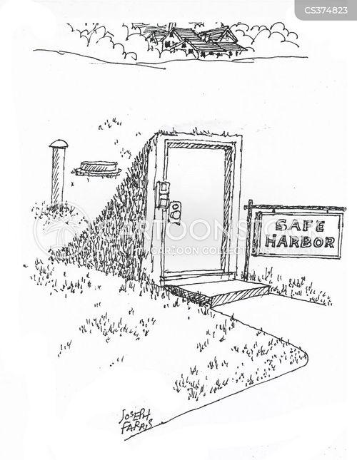 front door cartoon