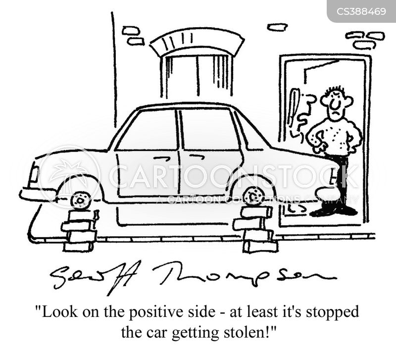 car crimes cartoon