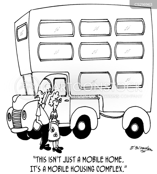 housing units cartoon