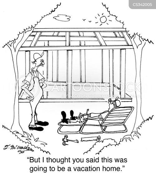 vacation home cartoon