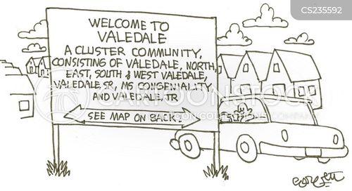 housing estate cartoon