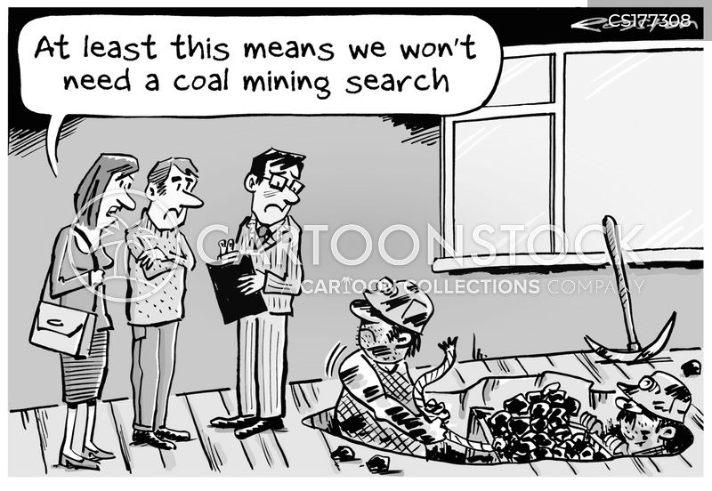 coal fire cartoon