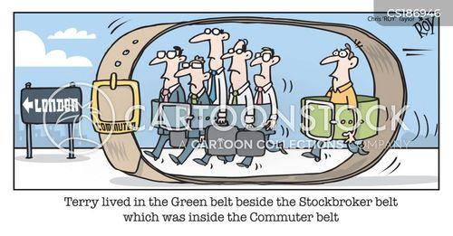 green belts cartoon