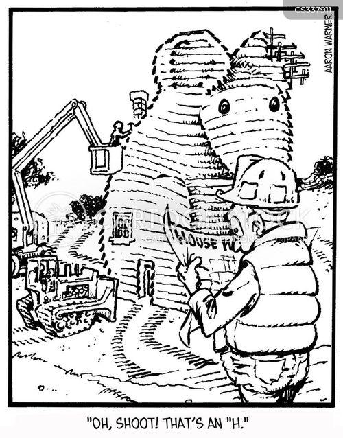 building plans cartoon