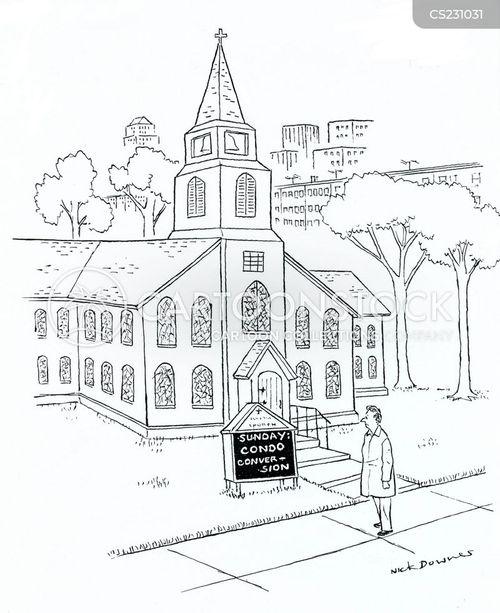 religious buildings cartoon