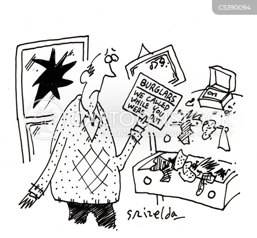 house break-in cartoon