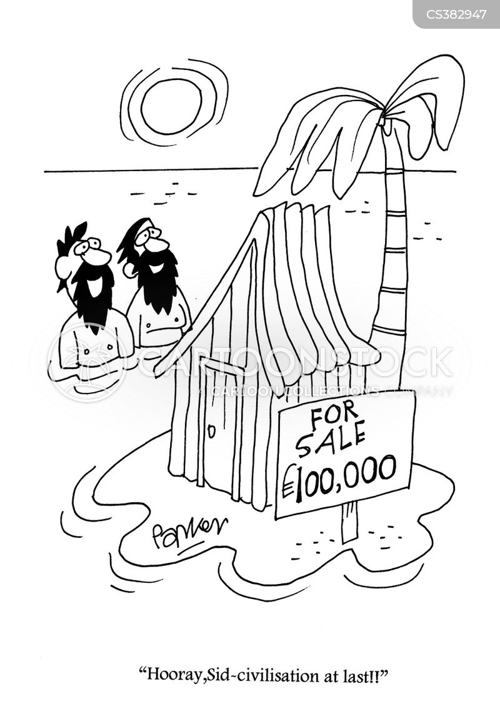huts cartoon