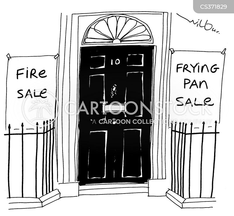 out of the frying pan into the fire cartoon