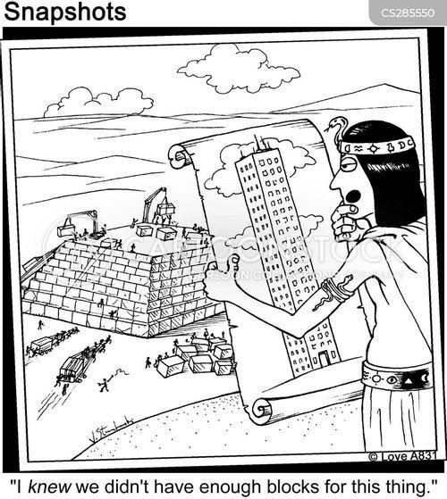 pirámide aparejador plano construcción