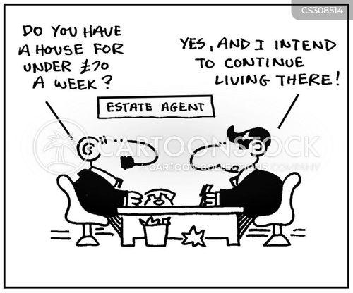 rent payment cartoon