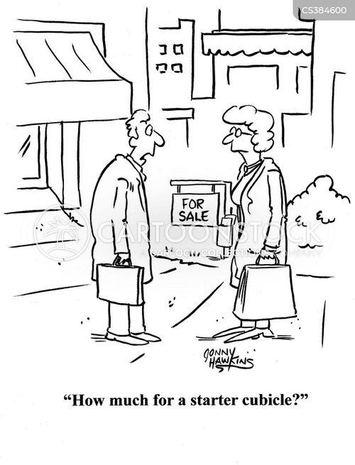 buying a business cartoon