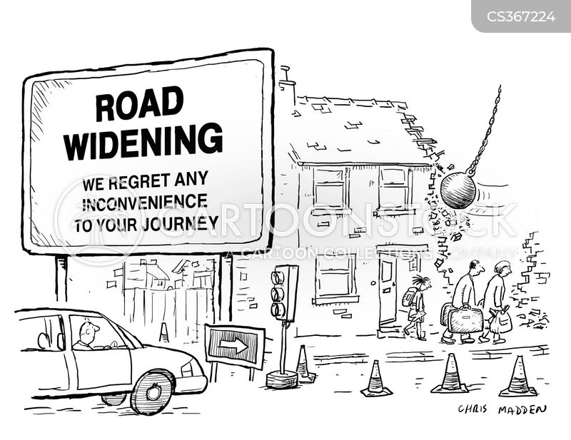 road-widening scheme cartoon
