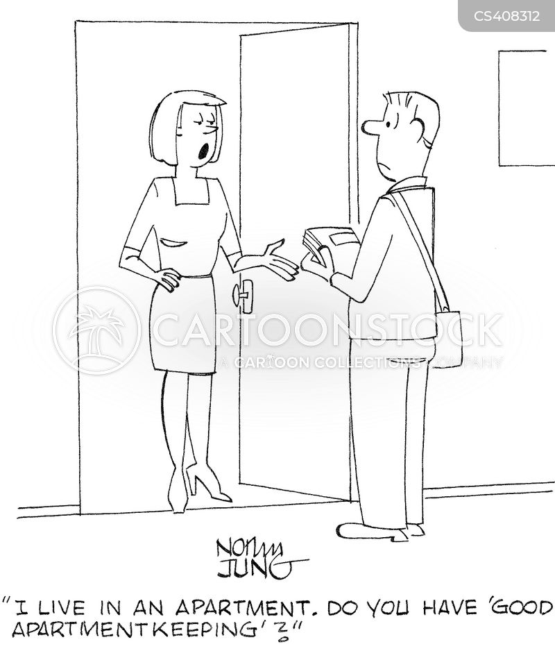 cleaning tips cartoon