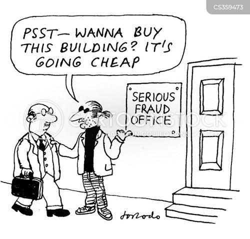 serious fraud cartoon