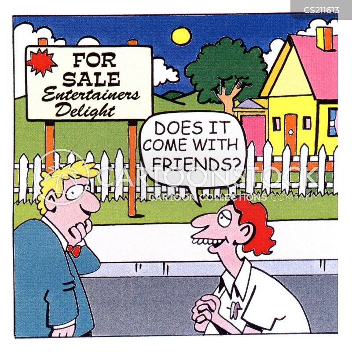 friendless cartoon
