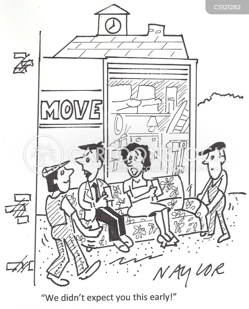 furniture removals cartoon
