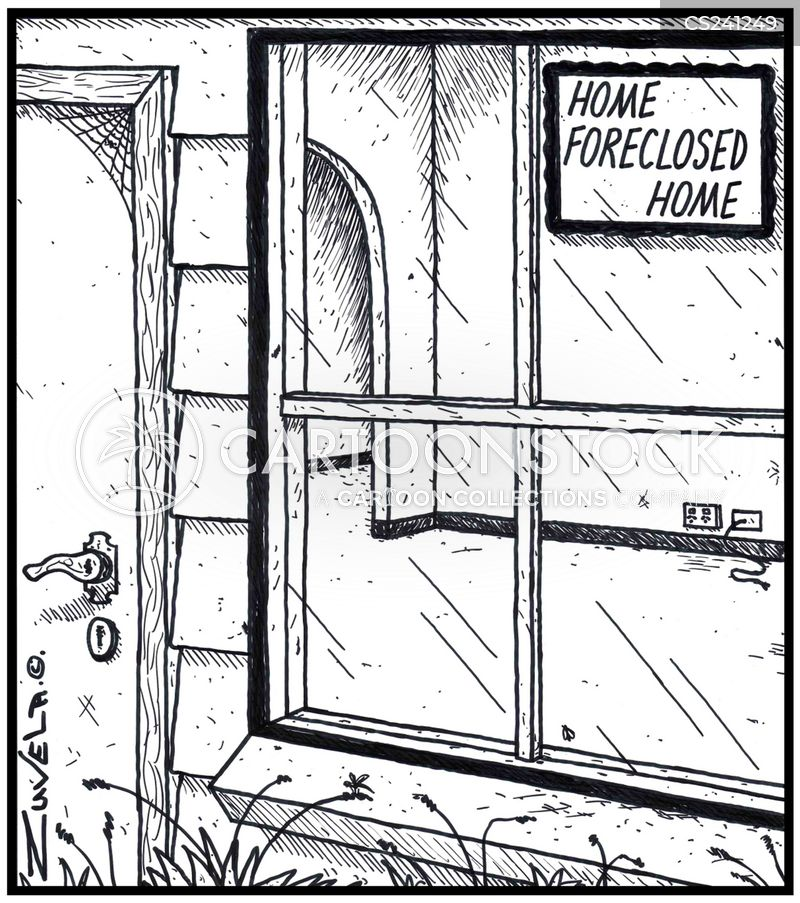 foreclosed cartoon