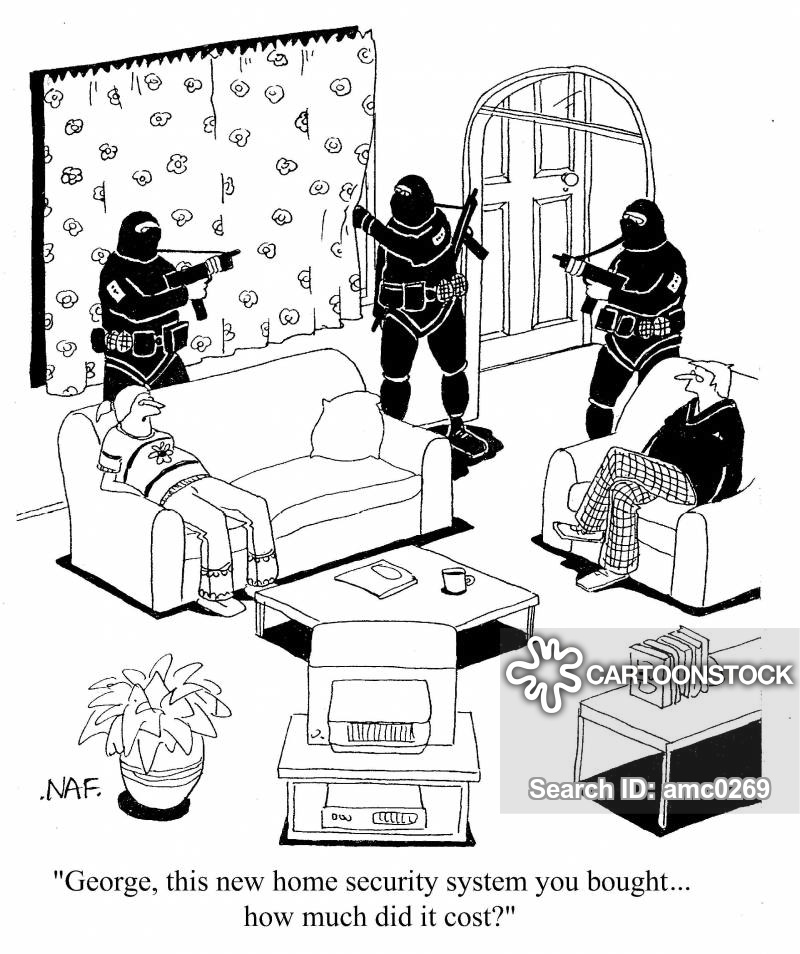 Home Security Systems Cartoons And Comics Funny Pictures