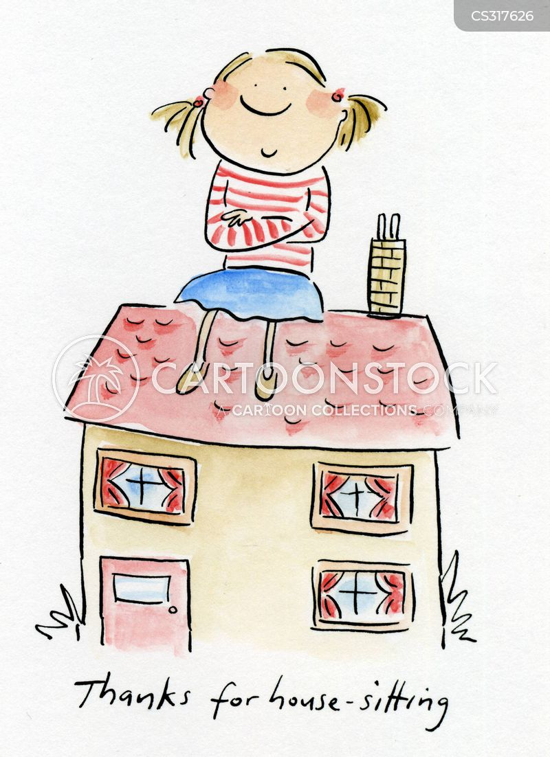 house sitting cartoon 3 of 14