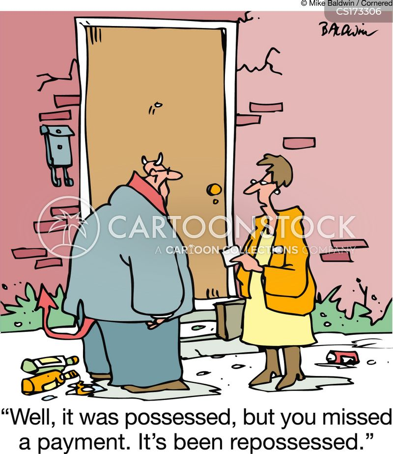 foreclosure cartoon