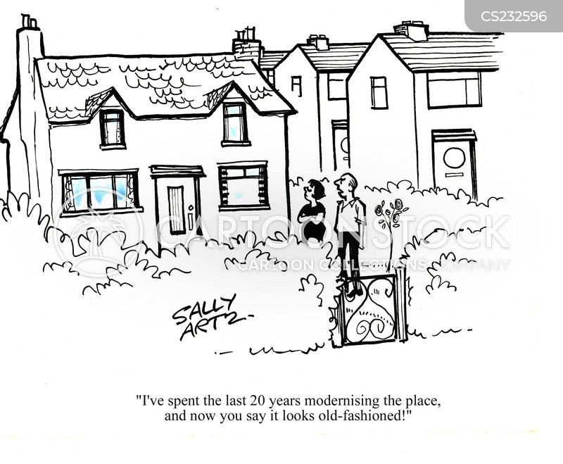 old-fashioned house cartoons and comics - funny pictures from