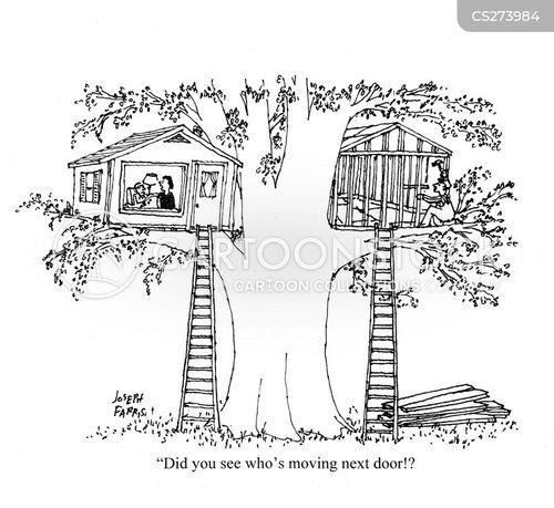 new neighbor cartoon