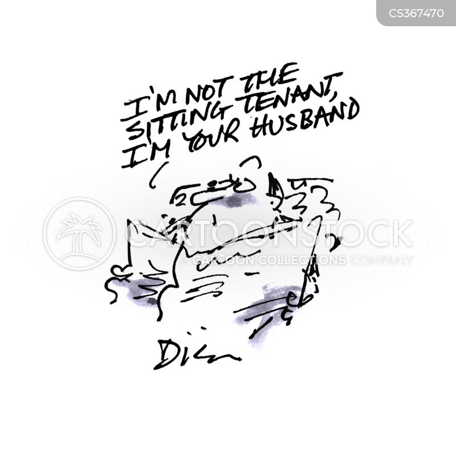 sitting tenant cartoon
