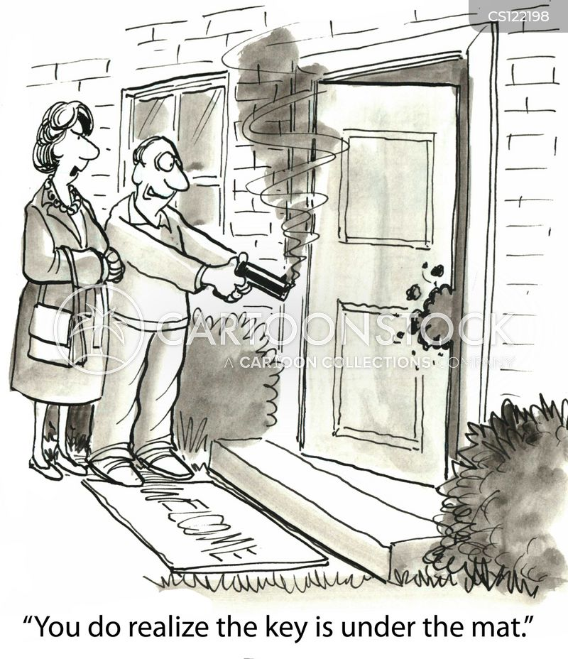 housekeys cartoon