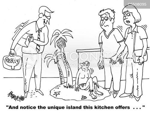 kitchen island cartoon